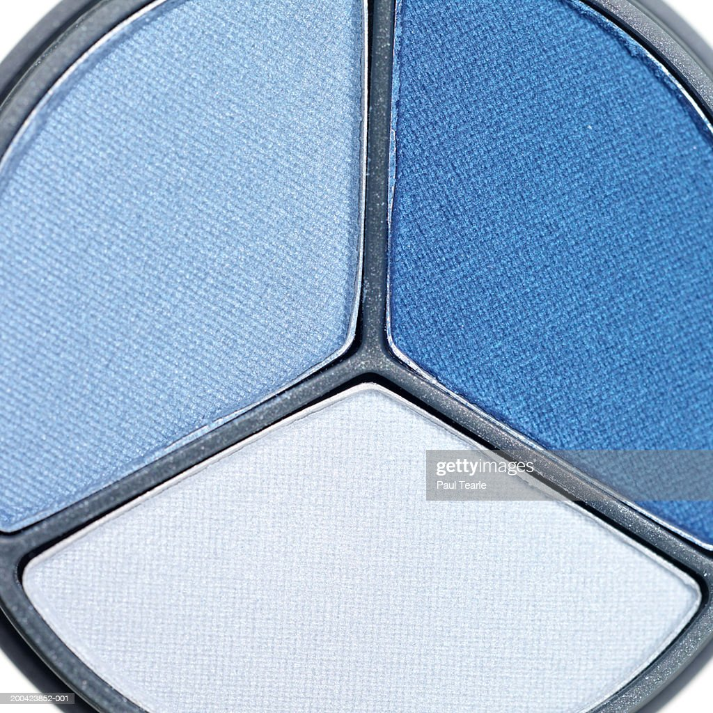 Blue eye shadow, close up : Stock Photo
