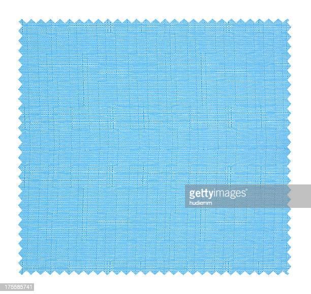 Bleu fond de texture de tissu Swatch isolés