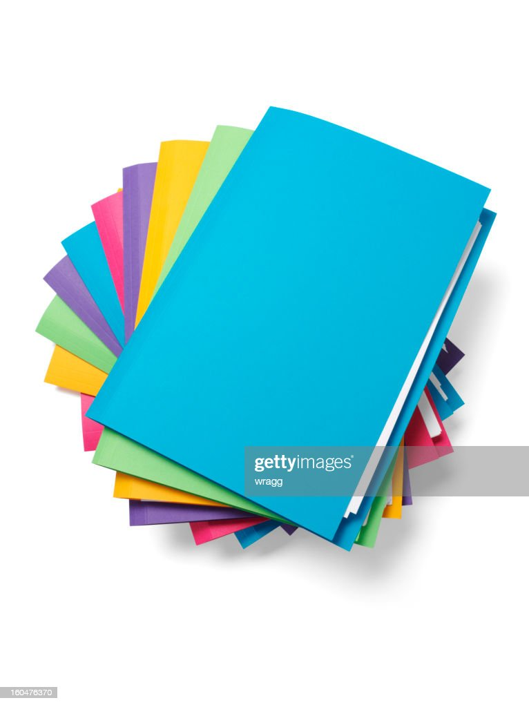 Blue File on the Top of a Pile
