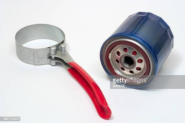 Blue filter und Schraubenschlüssel