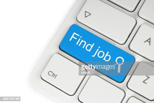 Blue find job button : Stock Photo