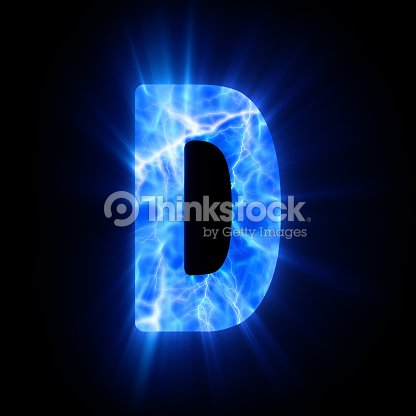 Blue Fire Letter D Stock Photo Thinkstock