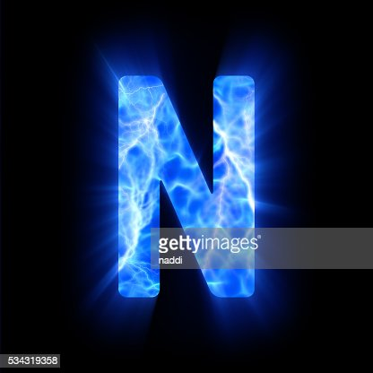 blue fire letter n stock photo | thinkstock