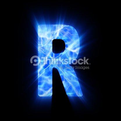 Blue Fire Letter R Stock Photo | Thinkstock