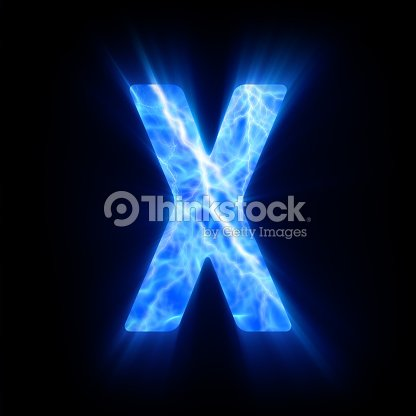 Blue Fire Letter X Stock Photo Thinkstock