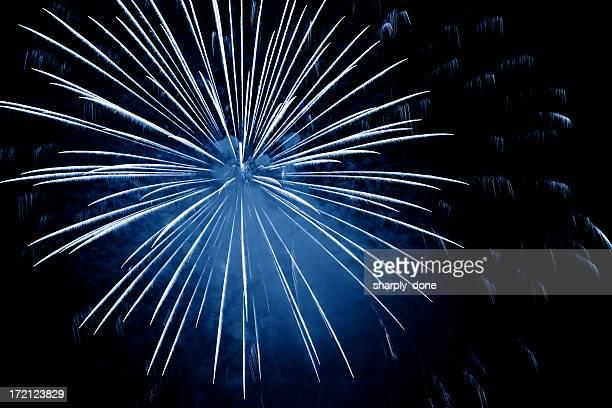 XXL blue fireworks explosion