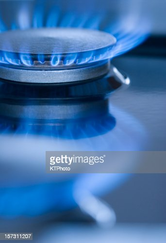 Blue Flames from a burner series 2