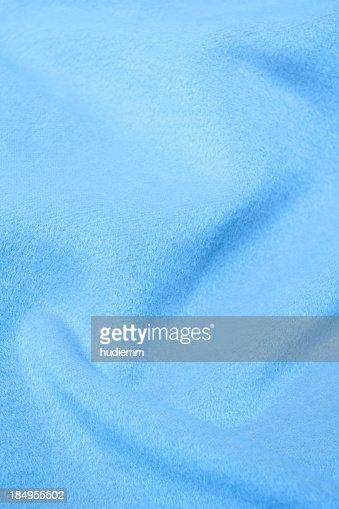 ブルーのフランネルブランケット