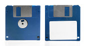 Blue Floppy Disk front and back