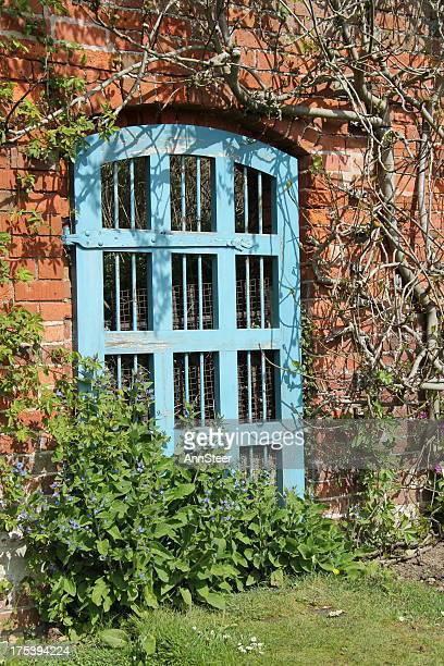 blue garden door