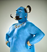 Blue genie out of the lamp
