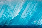 Blue glacier as background.