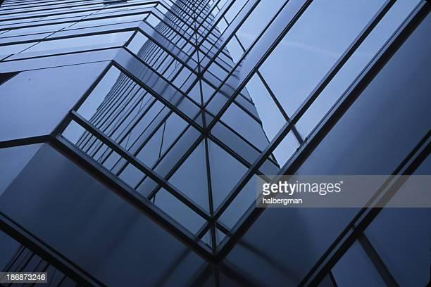 Blue Glass Walls