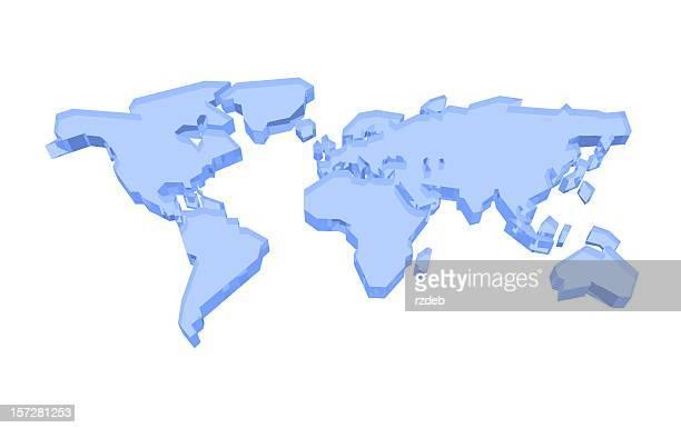 3D Blue Glass World