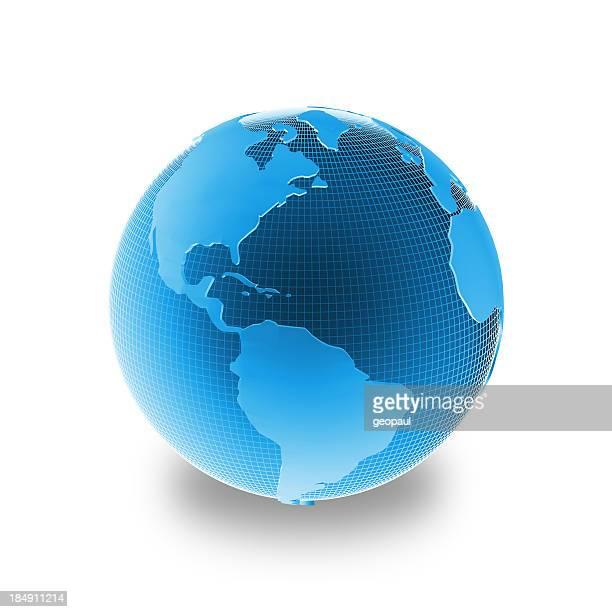 Bleu globe-Amérique