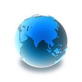 Blue globe  Asia