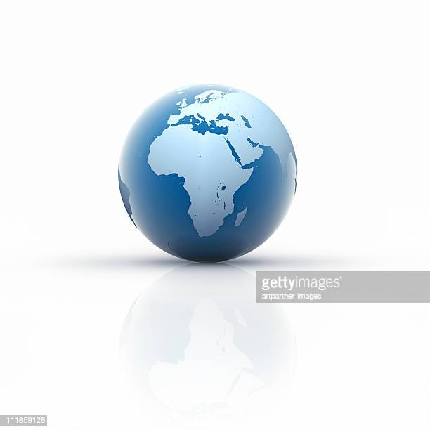 Blue Globe on white Background