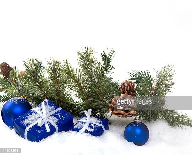 Blau, Grün und Weiß für Weihnachten