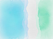 Blue green and white watercolor waves