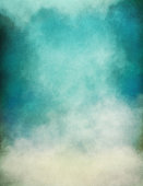 Rising fog and clouds on a paper background.  Image displays significant paper grain and texture at 100 percent.  (Note: Image is a combination of both digital and scanned source media.)