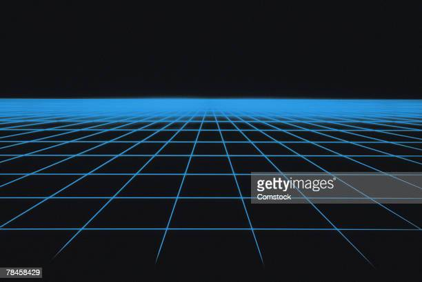 Blue grid graphic
