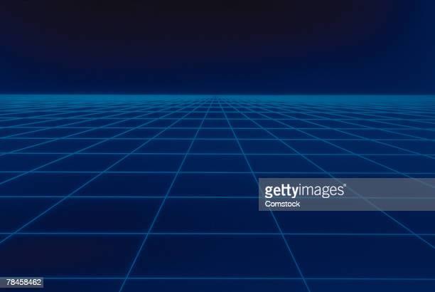Blue grid graphic