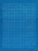 Blue grid paper with white lines