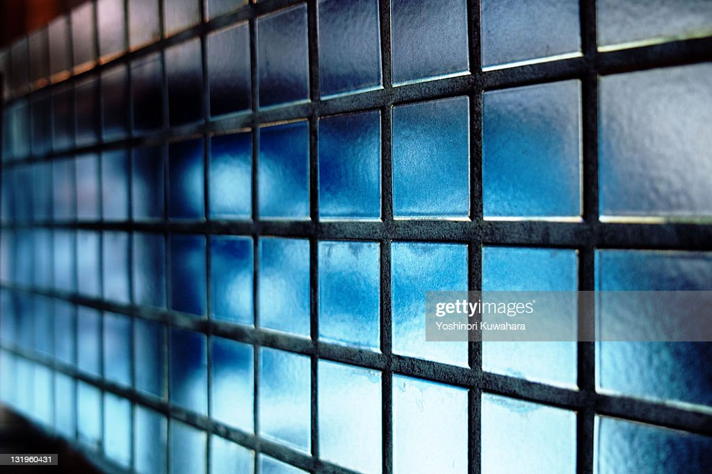 Blue Grid : Stock Photo