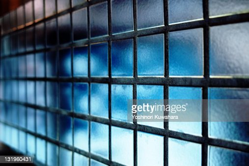 Blue Grid : Stock Photo