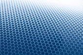 Blue grille texture