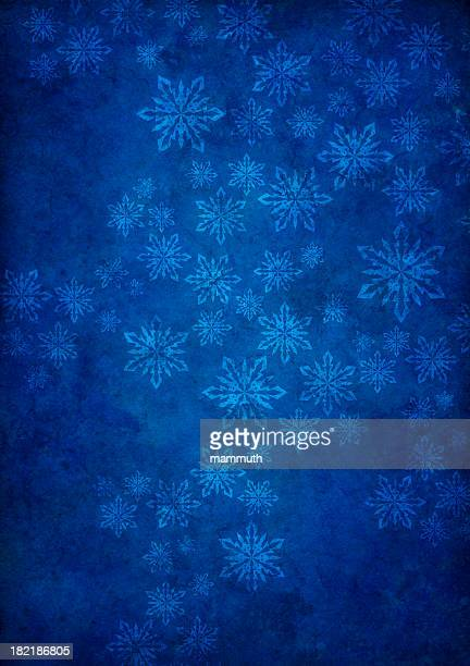 blue grunge background with snowflakes