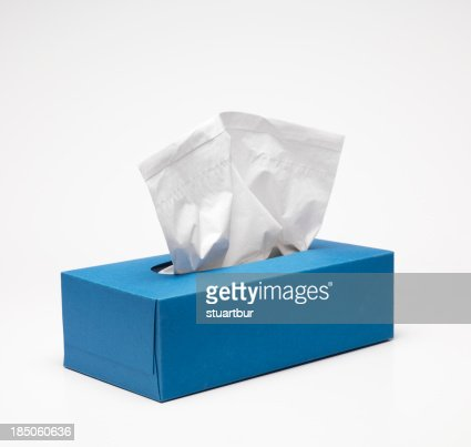 Blue Handkerchief box