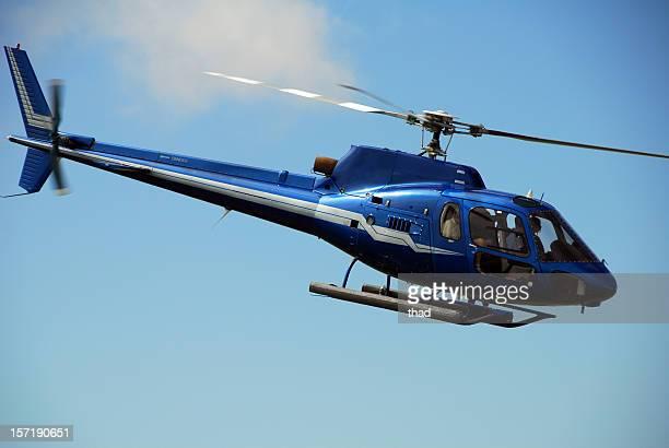 ブルーのヘリコプターのフライト