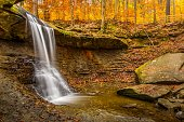 Blue Hen Falls in Cuyahoga Valley National Park Ohio