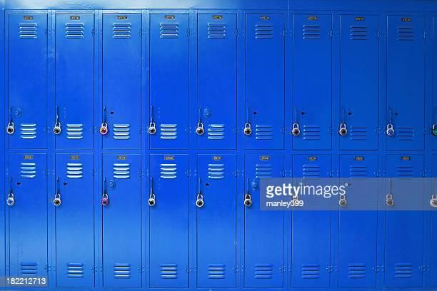 blue high school lockers