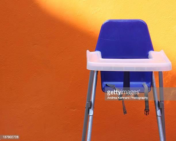 Blue highchair