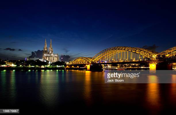 Blue hour in Cologne