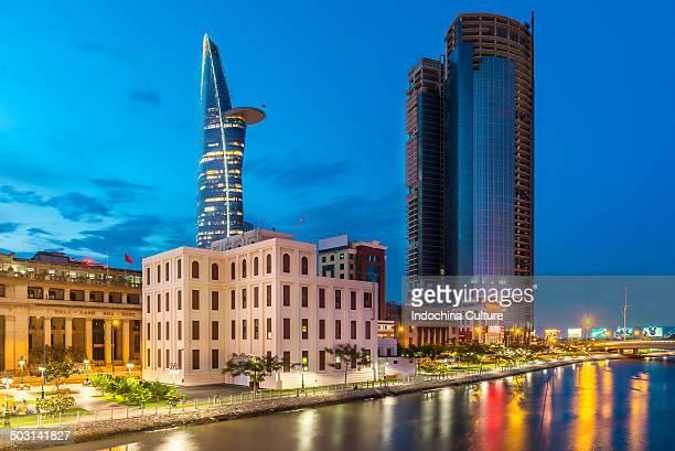 Blue hour - Saigon riverside  - Ho Chi Minh city