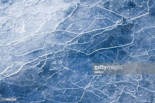 Glace bleue abstraite