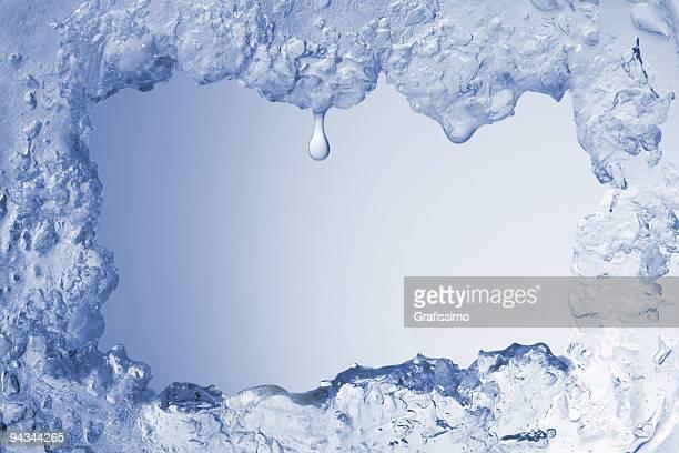 blue ice Rahmung leere zartes Blau Hintergrund