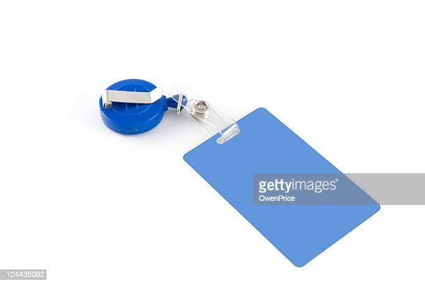 Blue id tag