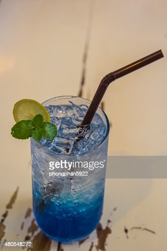Azul de Italia, soda : Foto de stock