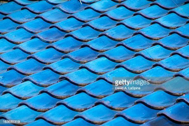 Blue Japanese roof tiles