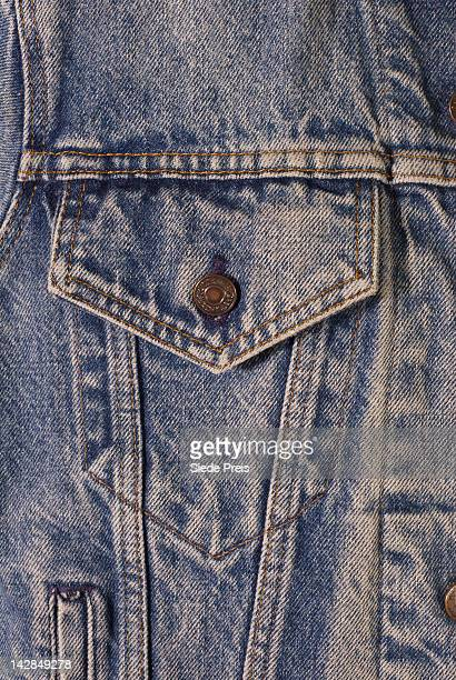 Blue jean jacket pocket