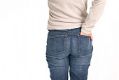 Blue jeans e mulher