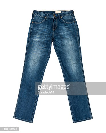 Blue Jeans Isolated with clipping path : Stock Photo