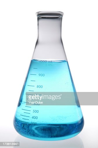 blue lab beaker used in lab research(with clipping path)