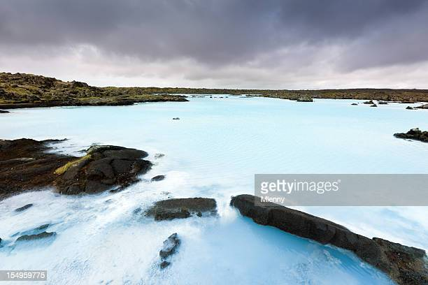 Blue Lagoon, Bathing Hot Water Sulphor Lake Keflavik Iceland