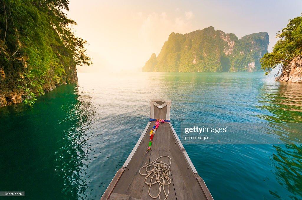 Blue lake in Chiewlarn Surat Thani Thailand
