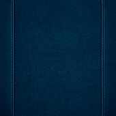 blue leather background or grain pattern texture